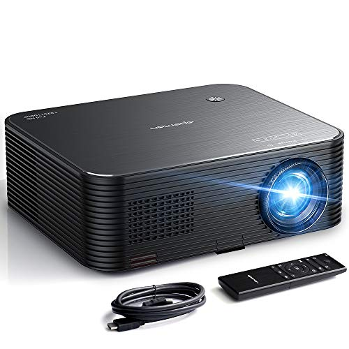 "APEMAN Mini Beamer Native 1080P Full HD Unterstützt 4K, 6000 Lumen 300"" Display 50000 Stunden Lampenlebensdauer, LED Heimkino Video Projektor, Kompatibel Mit HDMI/USB*2/TV Box/TF/Smartphone/Laptop/PS4"