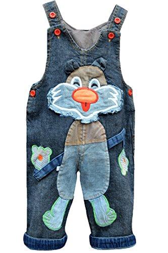 Baby Mädchen Trägerhose Latzhose gewaschene Jeans Overalls Jean Kleidung
