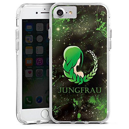 Apple iPhone 6s Bumper Hülle Bumper Case Glitzer Hülle Sternzeichen Jungfrau Astrologie Bumper Case transparent