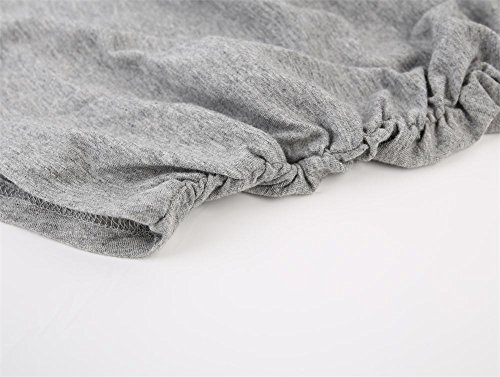 Topwhere® Damen Baumwolle Schwangerschaftsshirt Still-Tank Top Black+Gray