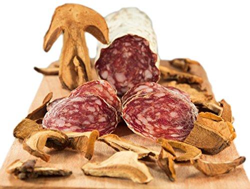 Coppia Salami i Sapori del Bosco - OFFERTA - 1 Salame ai Funghi 0,5 kg, 1 Salame al Tartufo 0,5 kg - Salumificio Artigianale Gombitelli - Toscana