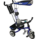 Kiddo Blue Smart New Design 4-in-1 Childrens Tricycle Kids Trike 3 Wheel Bike