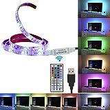 Topled Light®Bias Lighting per HDTV USB LED Kit striscia multicolore RGB LED Bianco sistema di illuminazione d'accento per TV LCD a schermo piatto, PC desktop(Bianco)