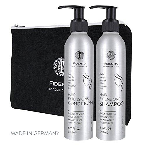Qualität Masken Hollywood (Fidentia Hair Extension Shampoo & Conditioner je 200 ml Hollywood-Rezeptur für langanhaltend schöne Haarverlängerung &)