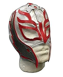 UK Halloween Karneval Cosplay Silber Wrestling Rey Mysterio Son of the Devil Reißverschluss - Kinder Voller Kopf Maske - Kostüm verkleiden Outfit Wwe Party