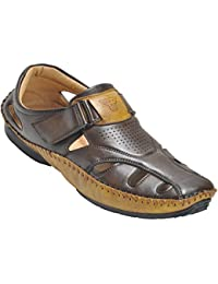 Kolapuri Centre Brown Color Casual Slip On Sandal For Men's