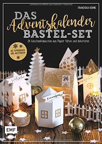 Das Adventskalender Bastel-Set - Mit Papierbogen und Anleitungen: 24 Geschenkhäuschen aus Papier falten und dekorieren