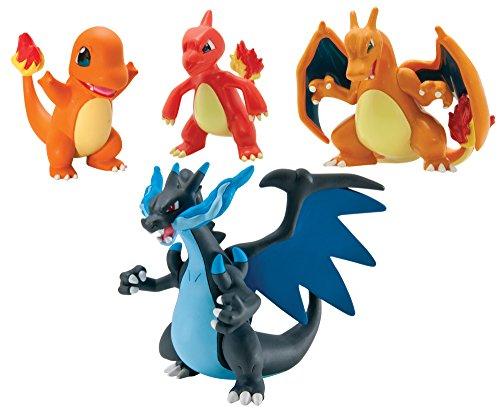 TOMY Pokémon Trainer's Choice mit 4 Figuren, Geschenkpackung (Pokemon Figur Glurak)