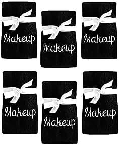 Juego de 6 Toallas Bordadas de algodón para Remover y Limpiar Maquillaje, Color... de Espalma