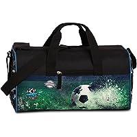 FABRIZIO Kindersporttasche Sporttasche Reisetasche Fussball Soccer schwarz