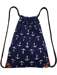 Y-BOA Sac à Dos Cordon Enfant Homme Femme Portable École Voyage Gym Shopping Sport Bag