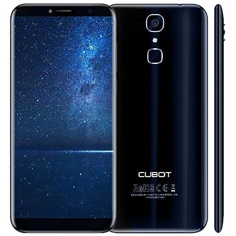 Cubot X18 (2017) Android 7.0 4G-LTE Dual Sim Smartphone ohne Vertrag, 5.7 Zoll (18:9) IPS HD Touch-Display, 3GB Ram+32GB interner Speicher, 16MP Hauptkamera / 13MP Frontkamera, Split Screen Mode Funktion, Fingerprint Sensor, 2.5D gebogener Bildschirm, nutzbares GPS, Benachrichtigungs-LED, (Sim Ohne Vertrag)