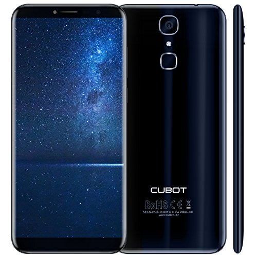 Cubot X18 Android 7.0 4G-LTE Dual Sim Smartphone ohne Vertrag 5.7 Zoll (18:9) IPS HD Touch-Display, 3GB +32GB, 16MP / 13MP , Blau