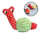 Xiton Baby Soft Plüsch Handgelenk Rattle Caterpillar Handglocke Armband Entwicklungsspielzeug für Kinder Kleinkinder (Schnecken)