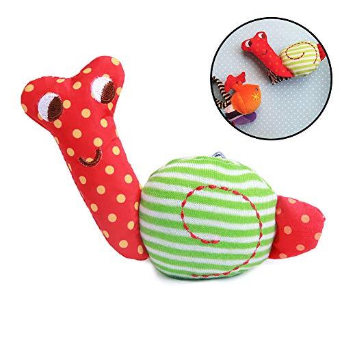 Naisicatar bebé de la felpa suave traqueteo de la muñeca de la mano de Caterpillar juguete de Bell pulsera de desarrollo para infantes para niños (caracoles) del bonito regalo