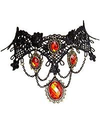 Estilo Europeo Gótico Creativo Cordón Negro Aleación Colgante Hecho a Mano Regalo Mujeres Collar