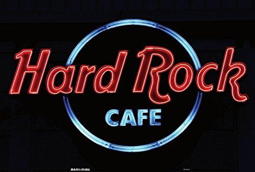 Schatzmix Rock Cafe reklame neon blechschild, bar accessoires