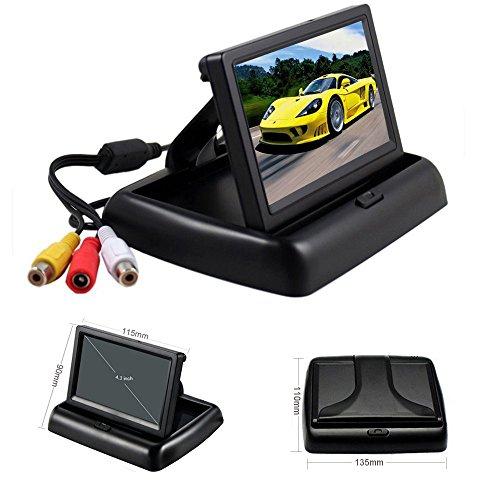 Rückfahrkamera Podofo® 4.3″ Faltbarer Drahtloser Auto Rückansicht TFT LCD Monitor mit wasserdichter Nachtsicht Parken Rückfahrkamera Installationssatz - 6