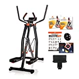 Maxi-Glider 360 with Resistance Levels - The 10-in-1 Home Exercise Fitness Trainer (Air Walker / Cross Trainer) includes Heart Rate Monitor, Tablet Holder and BONUS 2 x Workout DVD (As Seen on High Street TV)