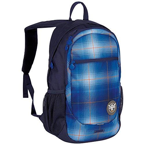 Chiemsee Techpack Two - Zaino, Unisex, Rucksack Techpack, blau/pink/gelb, 31 x 18 x 47 cm, 0.1 Liter Blu