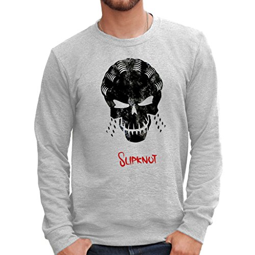 Felpa Girocollo SUICIDE SQUAD SLIPKNOT - FILM by Mush Dress Your Style - Uomo-L-Grigio