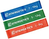 ENERGETICS Mini élastiques de Fitness, Red/Green/Blue, One Size