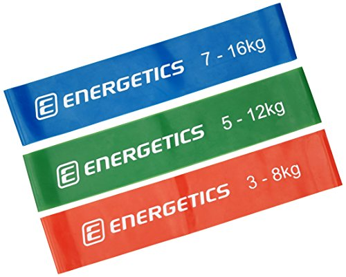 ENERGETICS Mini Bands Set Fitnessbänder Red/Green/Blue, One Size