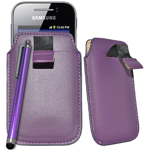 Accessory Master-Custodia a tasca, in similpelle viola per Samsung galaxy gio S5660