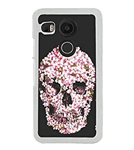 Flower Skull 2D Hard Polycarbonate Designer Back Case Cover for LG Nexus 5X :: LG Google Nexus 5X New