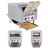 Beeketal 'DTB-1' Profi Gastro Durchlauftoaster aus Edelstahl mit Zugabefach für 1 Toastscheibe, Toaster mit 7 Geschwindigkeitsstufen und 3 Toast Bäunungsgrade einstellbar, inkl. Krümelschublade