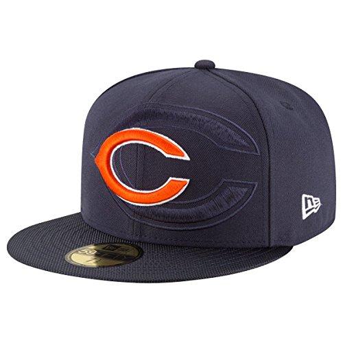 Chicago Bears Herren Bekleidung (New Era NFL Sideline 59Fifty Chibea OTC - Schirmmütze Linie Chicago Bears für Herren, Farbe Blau, Größe 7 1/8)