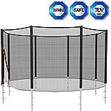 Filet de sécurité pour trampoline de Ø 366cm 12FT 8barres ( 4 pieds ) destiné au remplacement-- convenables pour 360 - 366cm trampoline