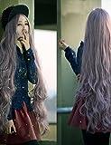 Perruques de mode Pratique et confortable cosplay modèles chauds une longue mèche de cheveux de fil synthétique à longue perruque frisée haute température-haute qualité