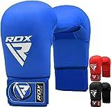 RDX Demi-Contct Gants de Taekwondo MMA Gants Sparring UFC Libre Entrainement Combat Sac De Frappe Art Cuir De Maya Hide Vachette Grappling Karaté