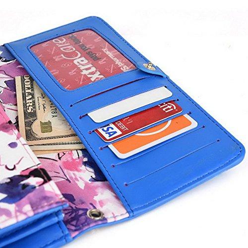 Kroo Pochette Crocodile pour portefeuille et étui pour LG G4Beat/Bello II Multicolore - vert Multicolore - magenta
