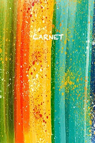 Carnet: Élégant et Pratique | Arc-en-Ciel Aquarel | Vert Orange Rouge Orange Jaune Bleu | 120 Pages Avec Papier Ligné par  Parbleu Carnets de Notes