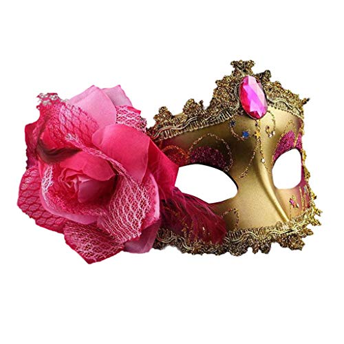 JenK Cing Komfort Katze Kopfband Kostüm Accessories Katzenmaske, Maskenball Valentinstag Party Halloween Elegante Metall Laser venezianische Maskerade Mädchen Masken halbes Gesicht (Macht Ein Skelett Kostüm)