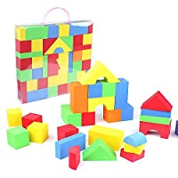 eBuyGB Pack of 65 Soft EVA Foam Building Blocks Set