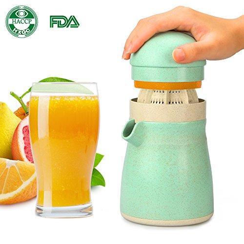 Funria Citrus Juicer Lemon Orange Juicer Manual Squeezer, Lemon Citrus Hand Press Lime Squeezer Juicer, BPA-free Dishwasher Safe Made by Biodegradable Wheat-Straw