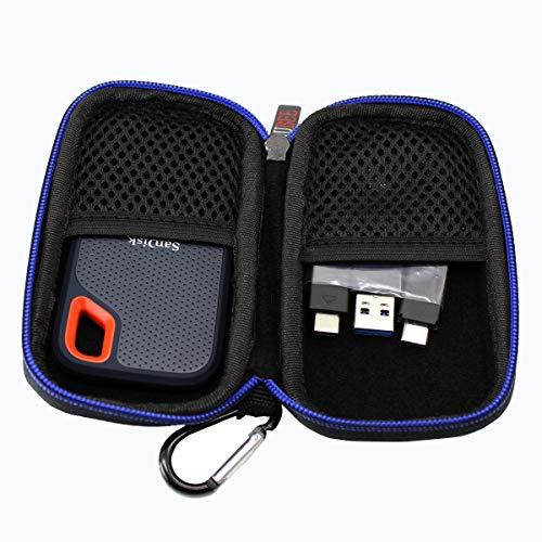 Portable Dur Voyage Cas Sac étui pour SanDisk Extreme Disque Flash SSD Portable 250 Go/500 Go/1 to/2 to par GUBEE