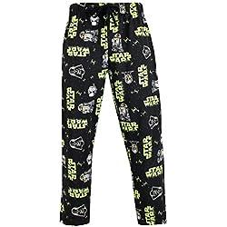 STAR WARS Pantalones de Pijama para Hombre Stormtrooper y Darth Vader Negro X-Large