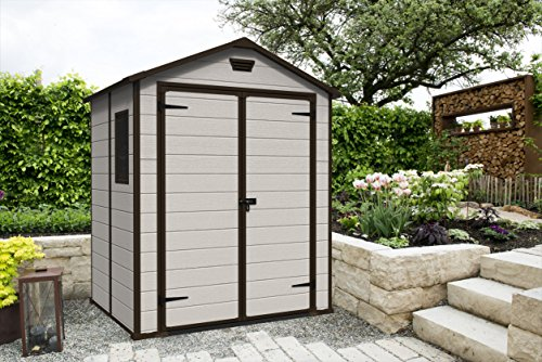 keter manor large 6 x 5 ft resin outdoor garden storage. Black Bedroom Furniture Sets. Home Design Ideas