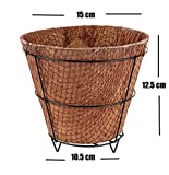 #4: MyFashionStyle Eco Friendly Square Coconut Coir Pot with metal stand - 6 Inch Dia - Pack Of 1