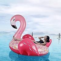 Flamenco Hinchable colchonetas piscina Flotador - WISHTIME Flamenco Hinchable colchonetas piscina Flotador Gigante Flamenco para Piscina Juguete Veraniego Inflable Juguete para Fiestas Playa de Piscina con Válvulas Rápidas Para niños y adultos