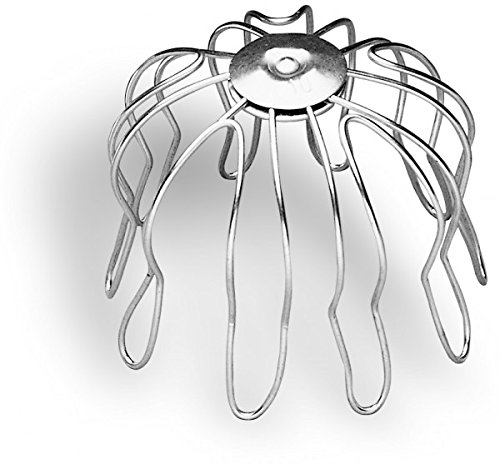 Zambelli Rinnensieb verzinkt 75-80 mm - Laubfänger zum Einstecken in den Rinnenabfluss | Formsicher & exakte Passgenauigkeit