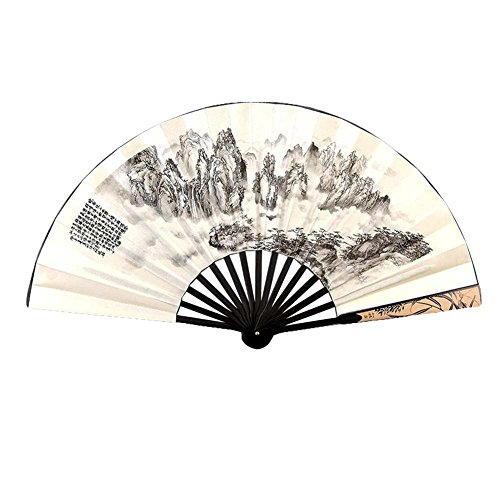 Chinese Style Folding Fan Sommer Fan Silk Männer Fan