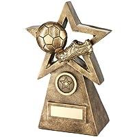 Cut-out Star Award Wembley gama: latón efecto Star premio, diseño de fútbol, montado en Base de una pirámide.