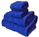 Trident 400g/m², Juego de 4 toallas de algodón (baño y mano),...