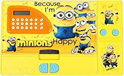 Jumbo Pencil Box with Calculator (Free USB LED Light) (Minion)
