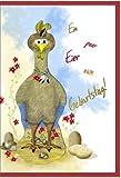 metalum Premium-Glückwunschkarte zum Geburtstag mit witzig schrägem Metall - Lesezeichen für Spaßvögel und Hühnerfreunde